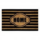 Stripe Home Black Natural Coir 22X36 Door Mat
