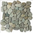 Taipei Green Rounded 12X12 Interlocking Indonesia Pebble Tile