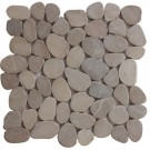 Tan Natural 12X12 Interlocking Indonesia Pebble Tile