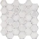 Telaio White 2X2 Hexagon Honed Mosaic