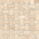 Tuscany Alabastrino Basketweave Pattern Honed