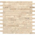 Tuscany Alabastrino Interlocking Honed and Filled Travertine Mosaic