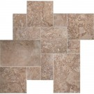 Tuscany Walnut French Pattern Honed, Unfilled And Chipped 16 Sqft Per Kit