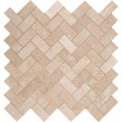 Tuscany Ivory Herringbone 12X12 Honed
