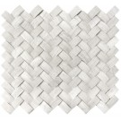 White Oak Arched Basketweave 3D Honed Mosaic