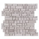 Wooden White 12x12 Multi Square Honed Mosaic