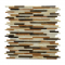 Natural Weave Glass Mix 12x12 Interlocking Mosaic