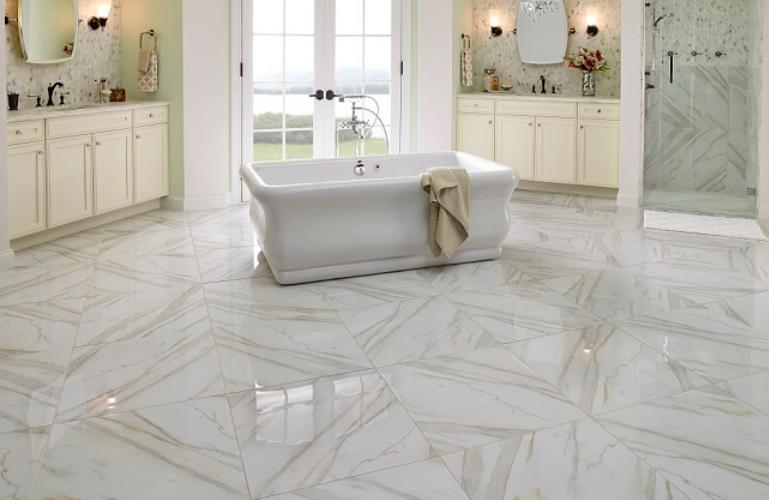 Ceramic Tiles in Calacutta Marble Touch