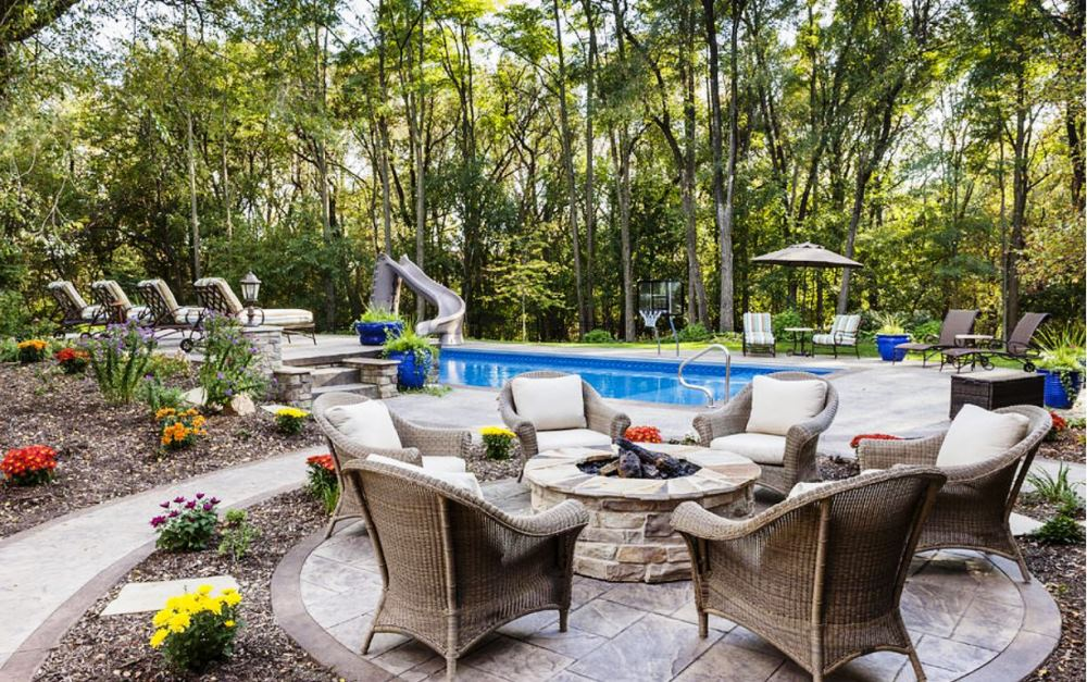 simple backyard fire pit and fire bowls ideas